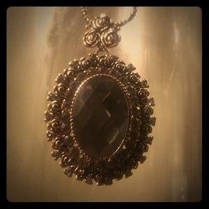 Vintage Broach style pendant necklace